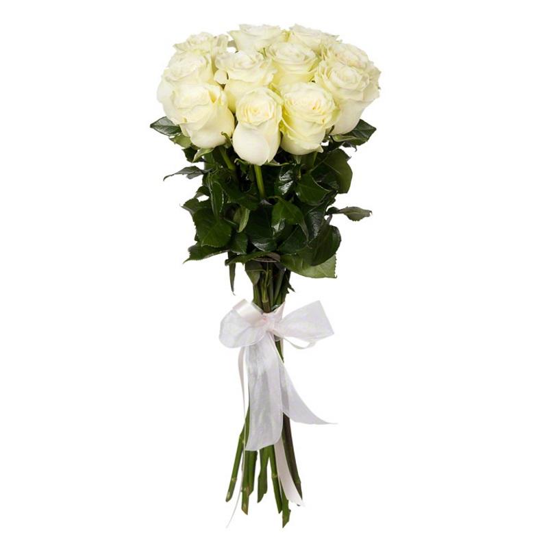 Букет из 11 белых роз премиум